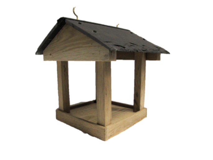 Bird Table with Slate Roof